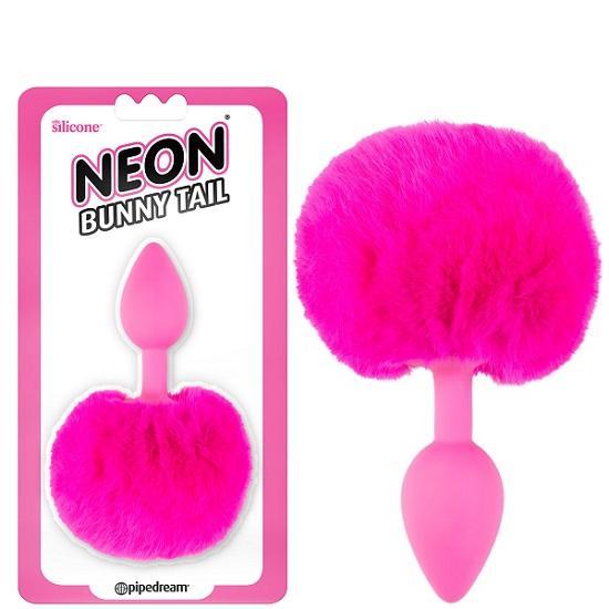 Neon Bunny Tail Butt Plug